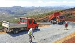 La nouvelle route d'accès  à Tiébaghi en phase finale