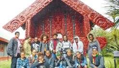 Les collégiens ont plongé dans la culture maorie