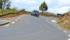 La route en direction de la rivière Bleue est complètement rénovée