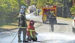 Les sapeurs-pompiers ont également dû s'adapter
