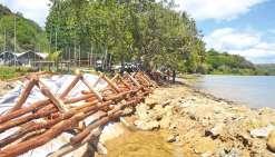 La plage du village de Touho protégée de l'érosion