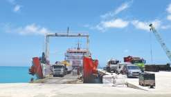 Le wharf d'Ouvéa a reçu son premier bateau