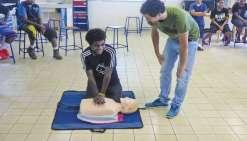 Les collégiens ont appris les gestes qui sauvent