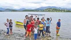 Quand un navigateur rencontre des enfants de la presqu'île