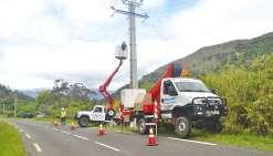Les agents réparent et sécurisent  le réseau électrique