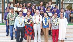Vingt élèves polynésiens iront se former en Chine
