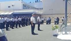 Les policiers saluent la mémoire d'un des leurs
