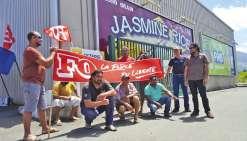 FO en grève à la rizerie Saint-Vincent