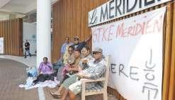 Des employés  débrayent au Méridien