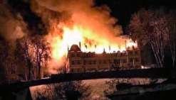 Le château brûle à Divonne-les-Bains