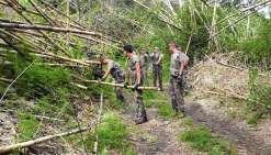 Coupe de bambous et coup  de chasse à Téganpaïk