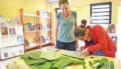 Un atelier artistique à la bibliothèque