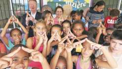 Les élèves de La Rizière, supporters de Paris 2024