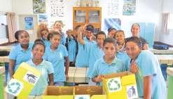 Les collégiens poussent  le bouchon sur le recyclage