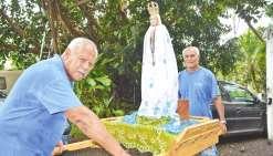 La statue de notre Dame de Fatima fait escale aux Loyauté