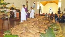 La coutume et la religion unies  pour célébrer l'igname nouvelle