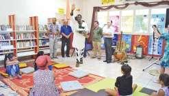 Le conteur Roger Atikpo invité de la bibliothèque
