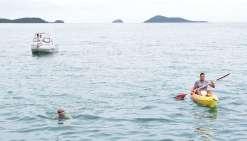 De l'îlot Amédée au Vallon-Dore à la nage en huit heures
