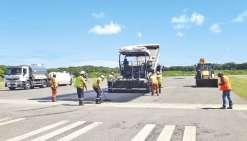 La piste de l'aérodrome rénovée