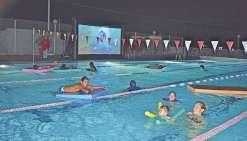 Une fin de journée à buller dans l'eau et devant un film