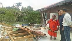 Gaël Yanno en visite aux îles Loyauté
