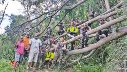 Les militaires ont dégagé de très nombreux arbres qui bloquaient les axes ou ont fait tomber des lignes électriques et téléphoniques.