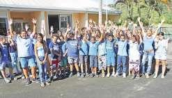 Les collégiens en bleu pour la planète