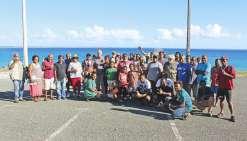 Les pêcheurs de l'île inaugurent  à Enu le port à sec