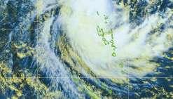 Donna arrive au Vanuatu