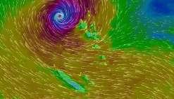 Des rafales ayant atteint 200 km/h ont causé des dégâts dans plusieurs îles vanuataises.