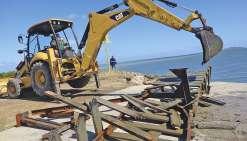 Le ponton du wharf de Ouano n'est plus
