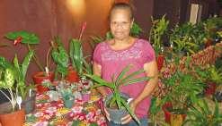 Carina cultive l'amour  des plantes aux Floralies