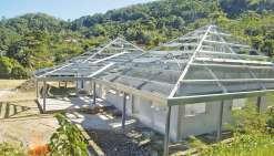 La future Maison de l'aire Paicî-Cemühî est située sur une hauteur du village.
