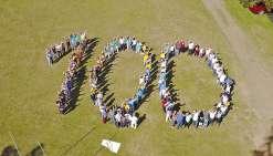 La fête des 100 ans du Lions vue du ciel