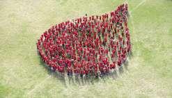 Des « gouttes de sang géantes » sont organisées tous les ans aux alentours du 14 juin, journée mondiale du donneur de sang. L'ADSBNC, association créée en 2003, relaie le concept depuis 2010, avec une petite interruption en 2015.