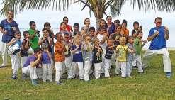Dojo à ciel ouvert à la tribu de Gouaro