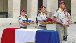 Hommage militaire au caporal Riveta