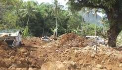 Le 22 novembre 2016, ce sont plusieurs tonnes de roches qui se sont abattues  sur les habitations des deux tribus.