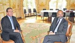 Philippe Gomès évoque le corps électoral avec Edouard Philippe