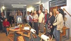 Les artistes de Koumac exposent leurs œuvres à la mairie