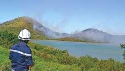 Feu incontrôlé à Apogoti, plus de 20 hectares brûlés