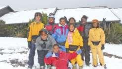 La solidarité leur a permis  de découvrir la neige