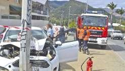 Accident à Nouméa : le conducteur repart à pied