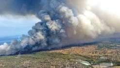 Plus de 200 hectares ravagés à Koumac, des habitations évacuées