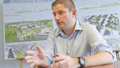 Maxime Nachin espère pouvoir mener de nouveaux chantiers de réhabilitation de bâtiments publics, comme celui de l'ancienne université, à Magenta.