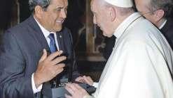 Edouard Fritch a échangé avec le pape
