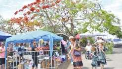Un vide-greniers couplé au marché