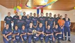 Médailles et hommage  aux sapeurs-pompiers de Bourail
