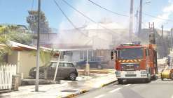 Un incendie sur la baie de l'Orphelinat
