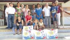 Des paniers de Noël distribués aux familles